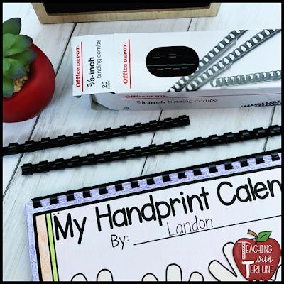 Handprint Calendar Assembly