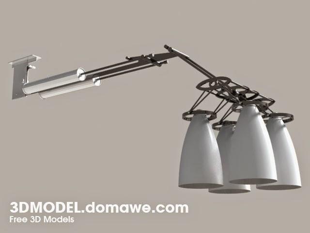 DOMAWE net: Ceiling Spot Lamp - Free 3D Model