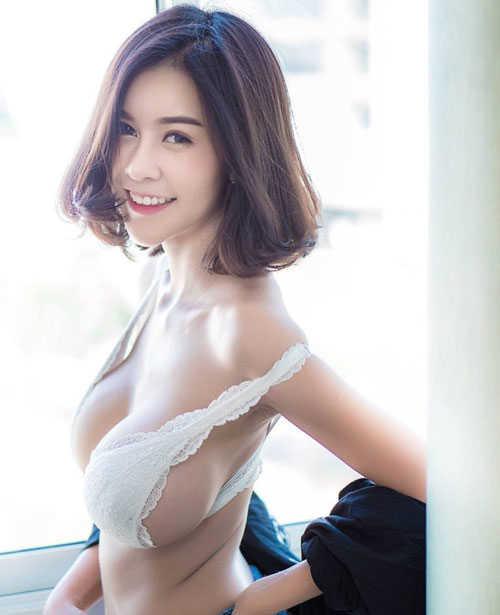 Nhan sắc của chân dài có khuôn ngực lớn nhất nhì Thái Lan