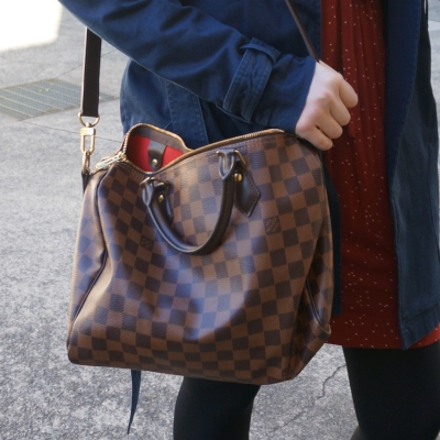 Louis Vuitton Damier Ebene 30 speedy bandouliere | Away from the blue blog