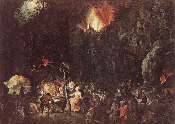 Jan Bruegel the Elder, Macabre Art, Macabre Paintings, Horror Paintings, Freak Art, Freak Paintings, Horror Picture, Terror Pictures