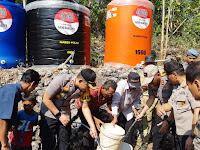 HUT ke 73, Polri Bantu 73 Tanki Air Bersih dan Bangun MCK untuk Gunung Kidul