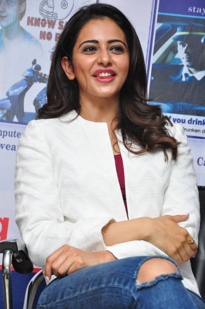 Rakul Preet Singh Photos At Traffic Awareness Programme