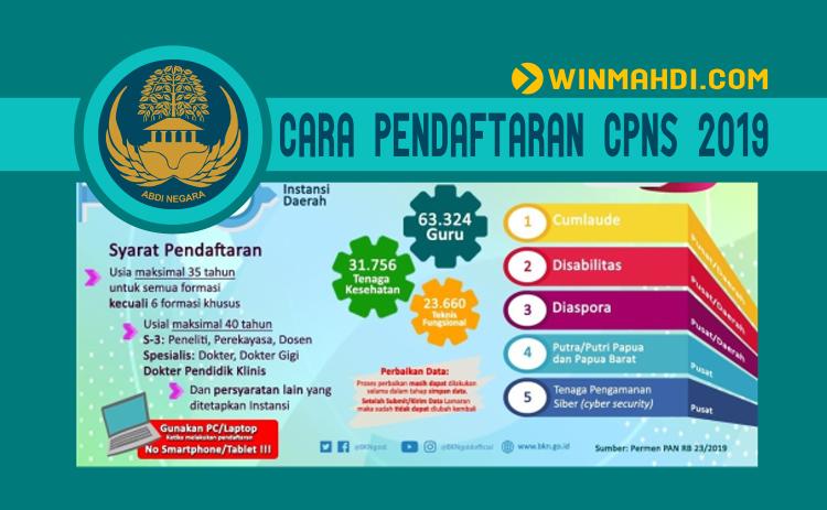 CARA PENDAFTARAN CPNS 2019 DI SSCN BKN GO ID