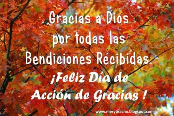 frases de agradecimiento a Dios por las bendiciones feliz dia de gracias