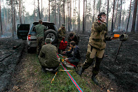 Volunteers fought a wildfire near a summer camp for children in Siberia in late May. With rising temperatures, wildfires have also broken out in Alaska and across the northern boreal forests this year. (Credit: Kirill Shipitsin\TASS via Getty Images) Click to Enlarge.