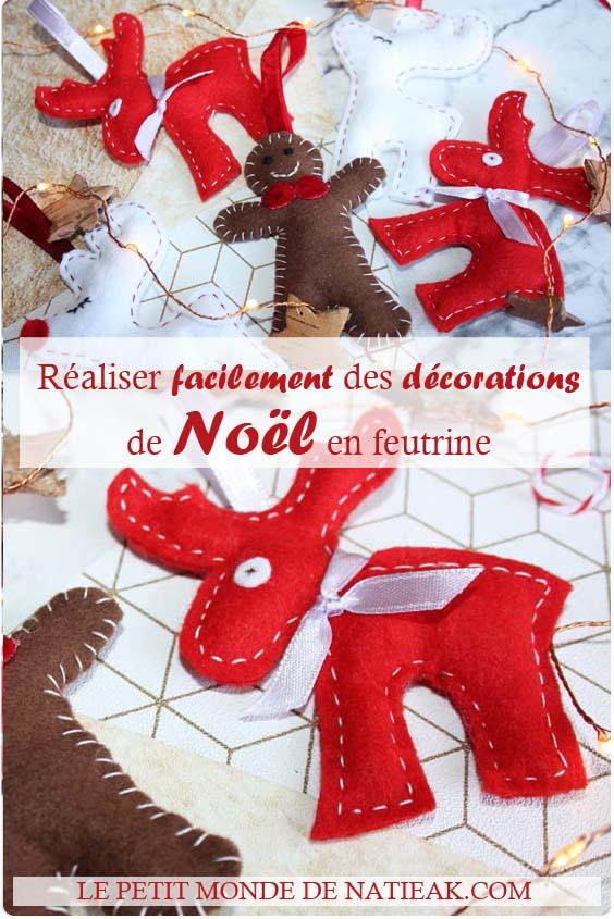 décorations de Noël en feutrine