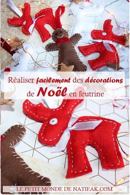 DIY : des décorations de Noël en feutrine