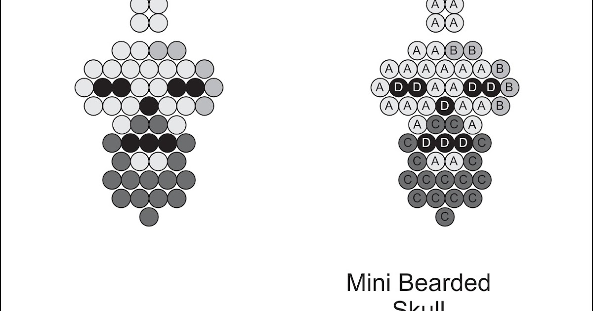Brick Stitch Bead Patterns Journal: Mini Bearded Skull
