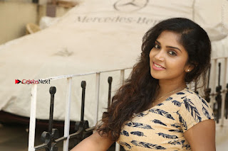 Telugu Actress Karunya Chowdary Stills in Short Dress at ATM Not Working Press Meet  0322.jpg