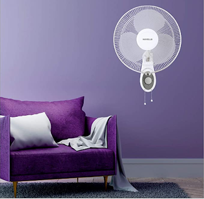 Havells Swing Platina 400mm Wall Fan with Trendy and Compact Design & Better Air Delivery