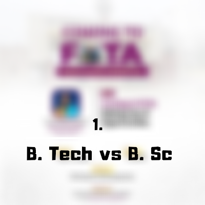 B.sc vs B.tech - FutaNewsandGist