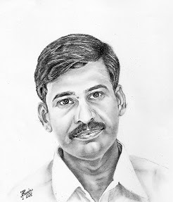 Pencil Art of an typical Indian gentleman