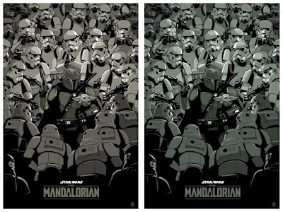 "The Mandalorian ""Lone Gunfighter"" Star Wars Screen Print by Gianmarco Magnani x Bottleneck Gallery x Justin Ishmael"