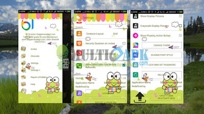 BBM Mod Keroppi Whatsapp Versi 2.13.1.14 Apk Change Theme