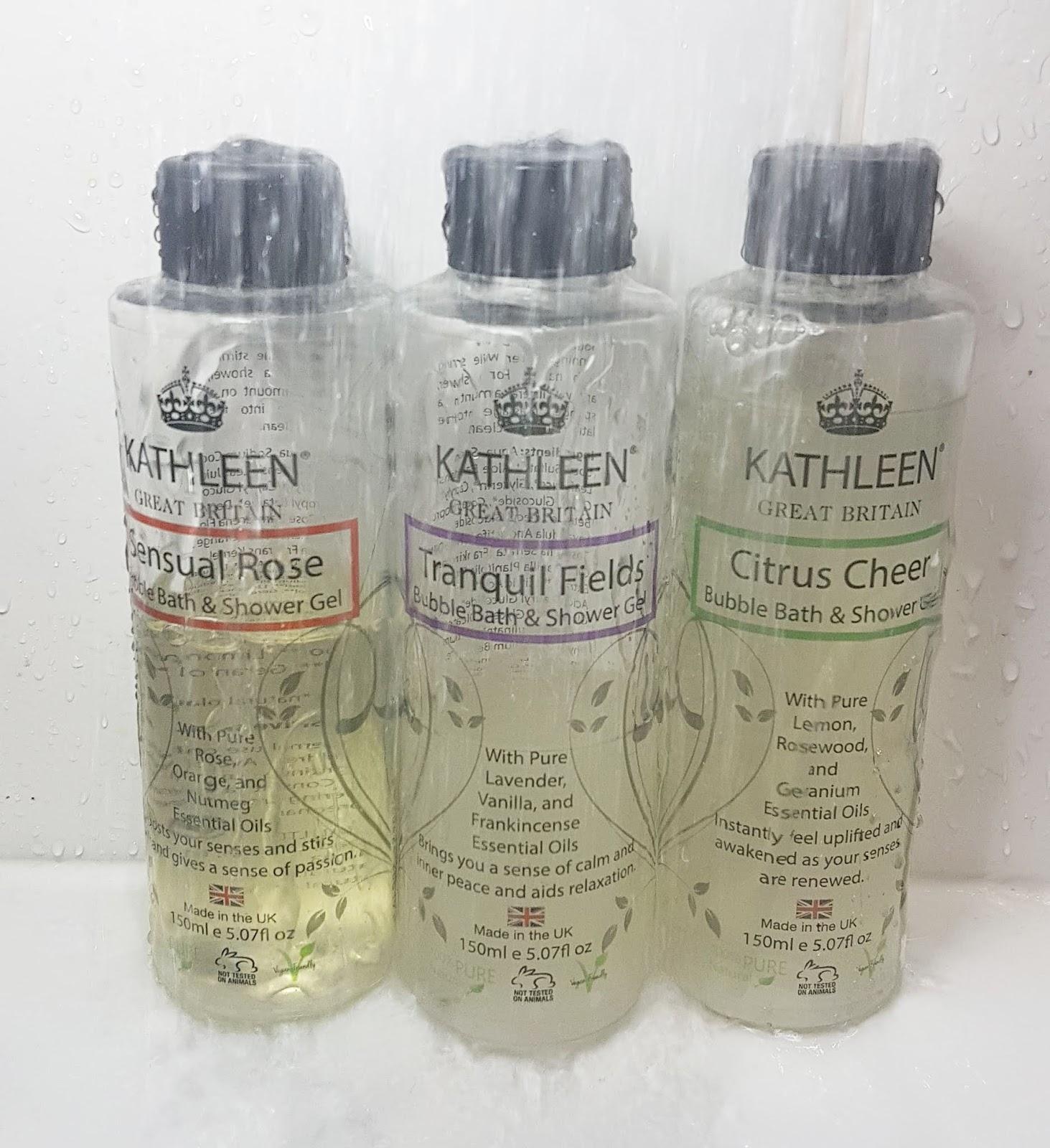 Kathleen Naturals Bubble Bath & Shower Gel trio