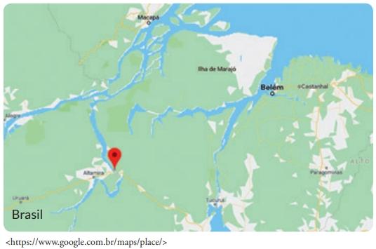 FDSBC 2019: A imagem ao lado, retirada do Google maps, tem como destaque