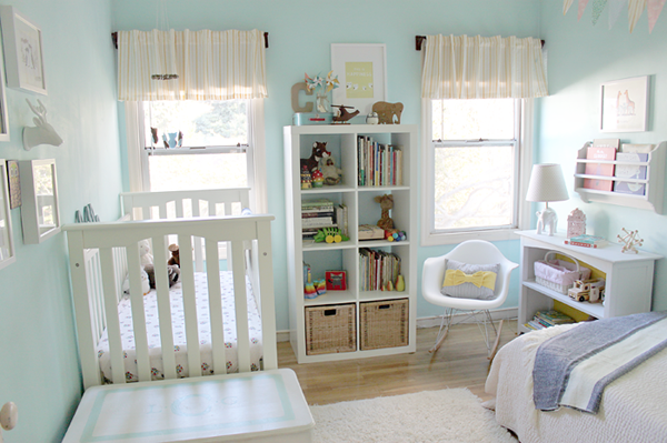 Crib And Toddler Bed Shared Room Small
