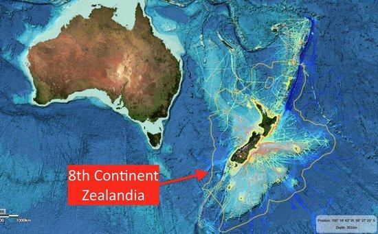 Zealandia: l'ottavo continente