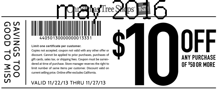 christmas tree shops coupon 2018 - wlrtradio.com