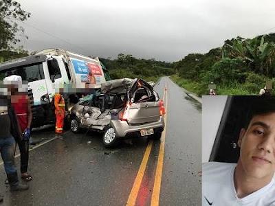 Comerciante morre em grave acidente na BR-330, entre Ubatã e Barra do Rocha