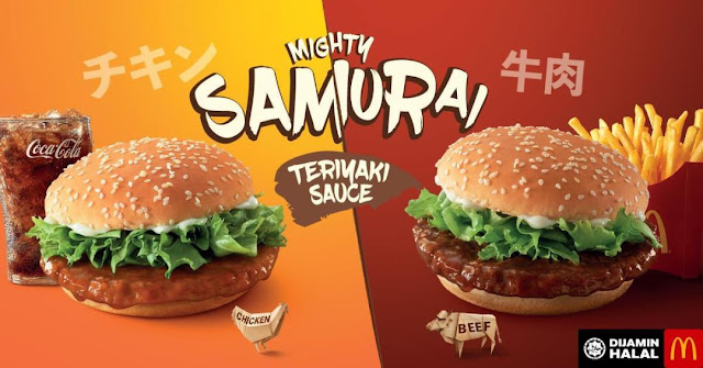 New Samurai Burger, McD Malaysia,  new Japanese Themed Sensation, green tea mcflurry, mighty samurai burger, burger mcd, online food delivery, best online food delivery