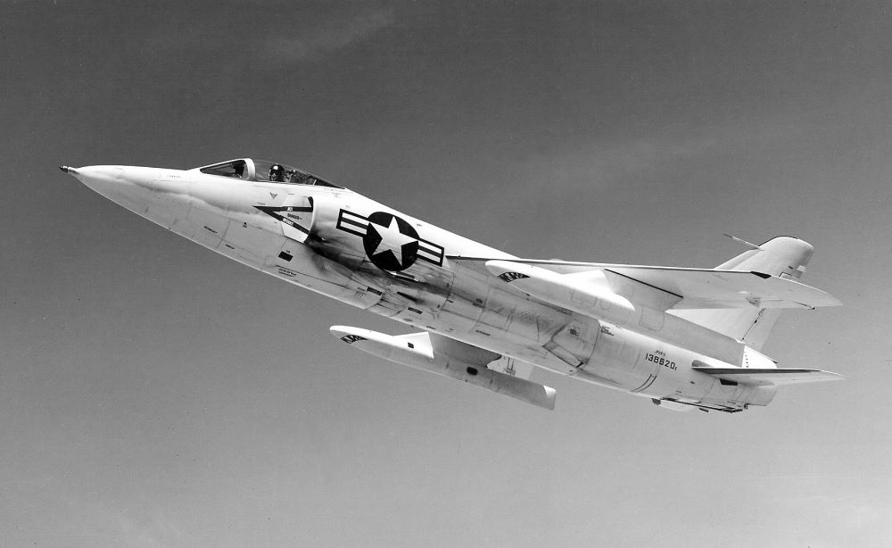 An F-11 Tiger in flight.