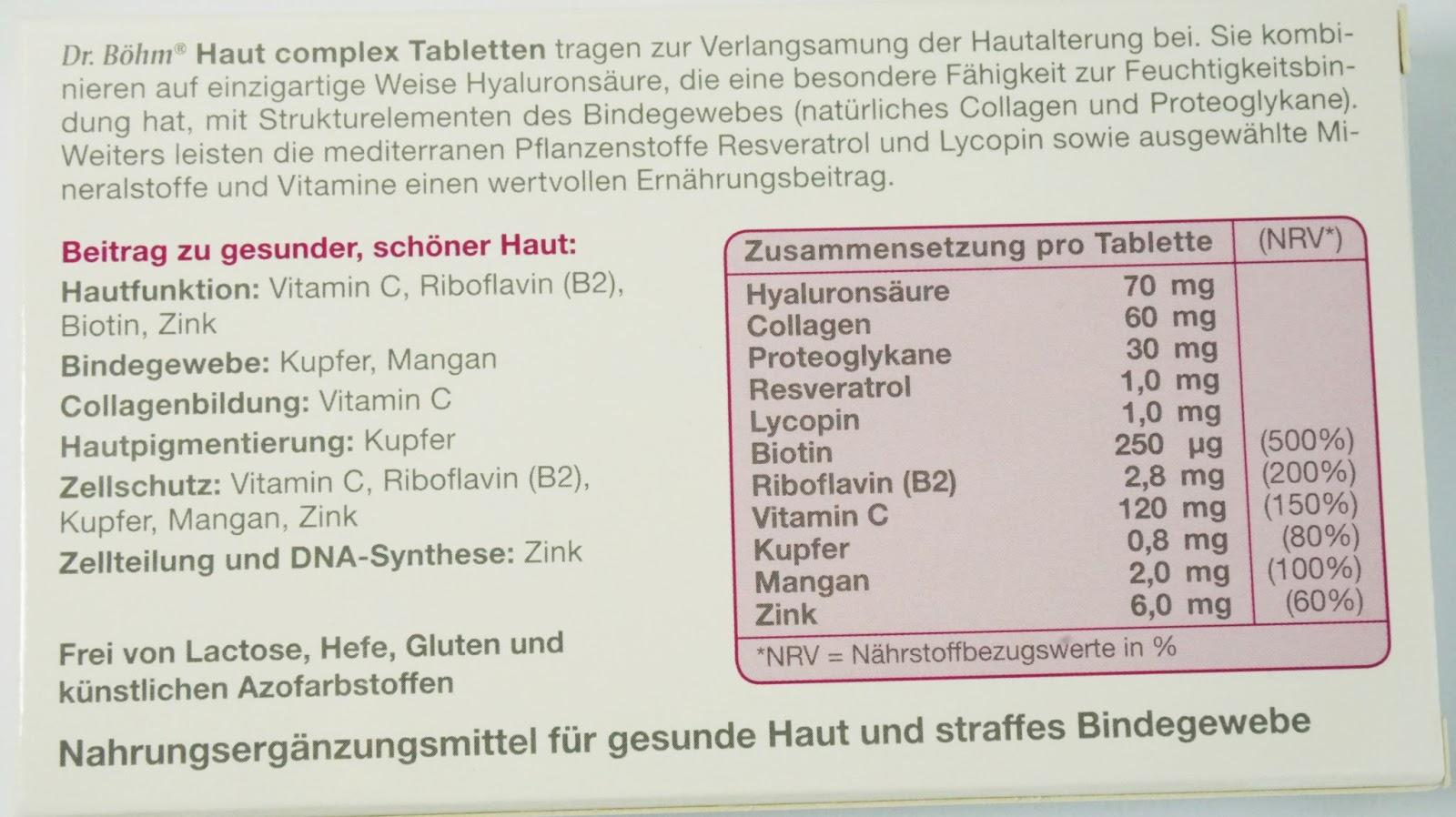 Dr. Böhm - Haut complex mit Hyaluronsäure