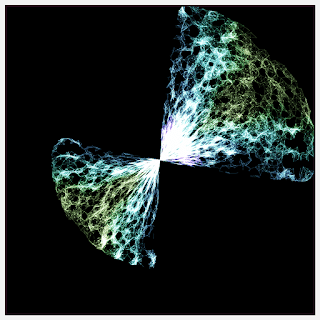 A creative coding artwork with the polar coordinate transformation.