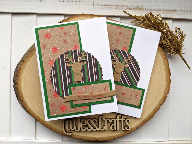 Christmas Card using Michael's Recollections Say Freeze for Jess Crafts Sketch 23