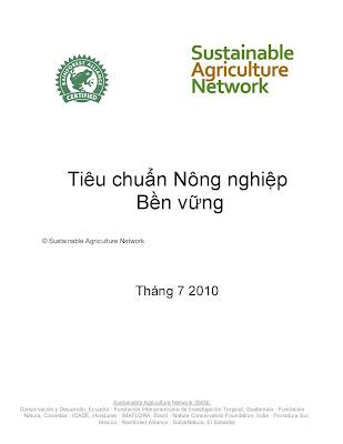 [EBOOK] TIÊU CHUẨN NÔNG NGHIỆP BỀN VỮNG, SUSTAINABLE AGRICULTURE NETWORK