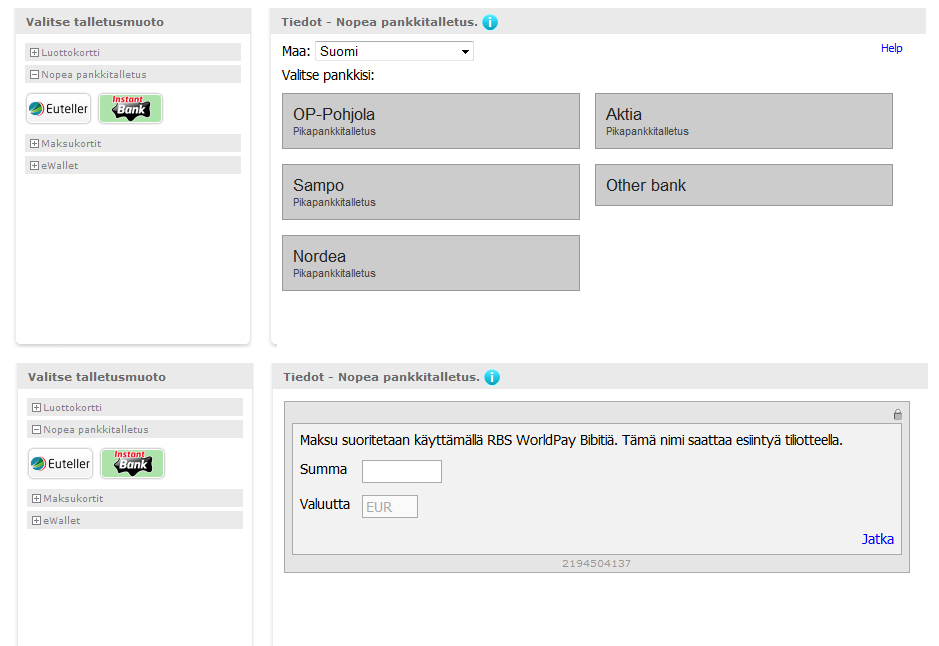 Euteller Account Settings Screen