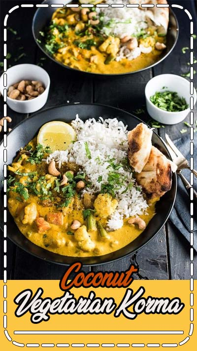 his easy to make Creamy Coconut Vegetarian Korma makes a great go-to Meatless Monday meal. It's naturally paleo and gluten-free and can easily be made vegan. Serve it with a side of rice, quinoa or cauliflower rice for a quick and delicious dinner.