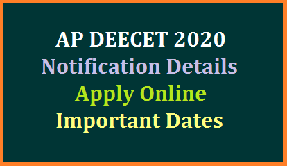 AP DEECET 2020 Notification Details Important Dates Online Application  https://cse.ap.gov.in and https://apdeecet.apcfss.in are official websites to submit online application form for AP DEECET 2020 Notification. For latest updates, please check at DEECET website https://cse.ap.gov.in & https://apdeecet.apcfss.in Teacher job aspirants have to go through the D.Ed course for 2 years and DIETCET is the entrance Test to get admission into the said course. Andhra Pradesh Diploma in Elementary Education Common Entrance Test 2020 Detailed Notification and Schedule released by School Education Department. candidates may go through the Information Bulletin available here  to know Important Dates of AP DIETCET 2020, Payment of Fee, How to Apply Online, Downloading of Hall Tickets Exam Spell Dates announcement of Results Admission counselling dates. Candidates can apply for DEECET – 2020 to be held on 23.06.2020 & 24.06.2020. Applications will be received only through 'ONLINE' DEECET website https://cse.ap.gov.in & https://apdeecet.apcfss.in from 21.05.2020 to 05.06.2020.