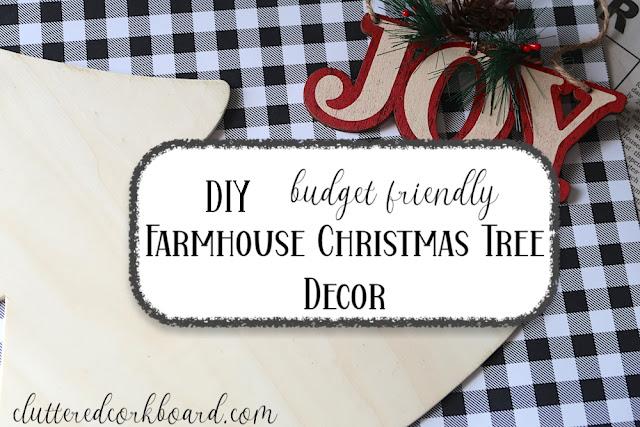 Simple DIY Farmhouse Christmas Tree Decor | Wall Hanging