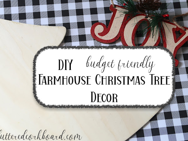 Simple DIY Farmhouse Christmas Tree Decor   Wall Hanging