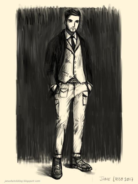 Dibujo digital en blanco y negro