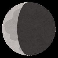 月の満ち欠けのイラスト5