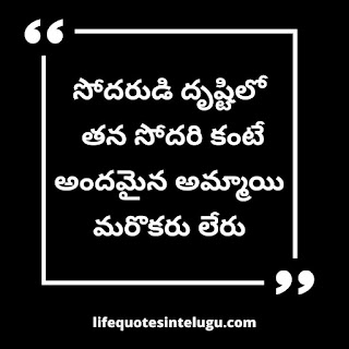 Inspirational Brother And Sister Quotes In Telugu
