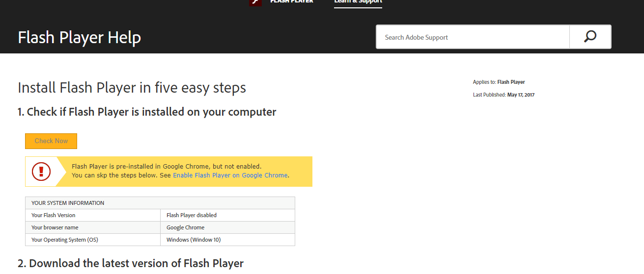 How To Install Flash Player In Google Chrome How to Update