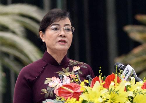 Bà Nguyễn Thị Quyết Tâm phát biểu khai mạc kỳ họp bất thường