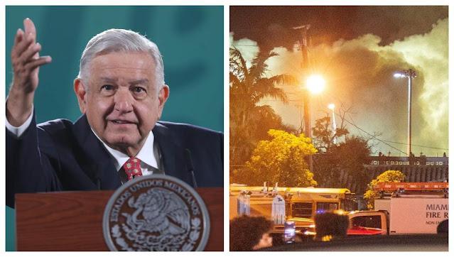 Si yo gobernara Florida no hubiese dinamitado el edificio: AMLO critica demolición en Miami  ¿Estas de acuerdo?
