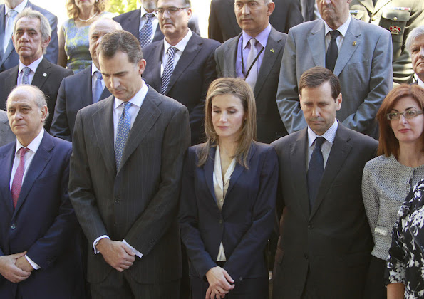 King Felipe and Queen Letizia meet with representatives of associations and foundations of victims of terrorism
