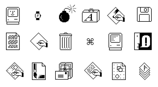 Macintosh System 1, icons