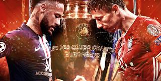 مباراة باريس سان جيرمان وبايرن ميونخ اليوم 23/8/2020 في نهائي دوري ابطال اوروبا لحظة بلحظة