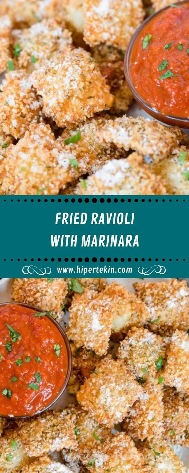 FRIED RAVIOLI WITH MARINARA