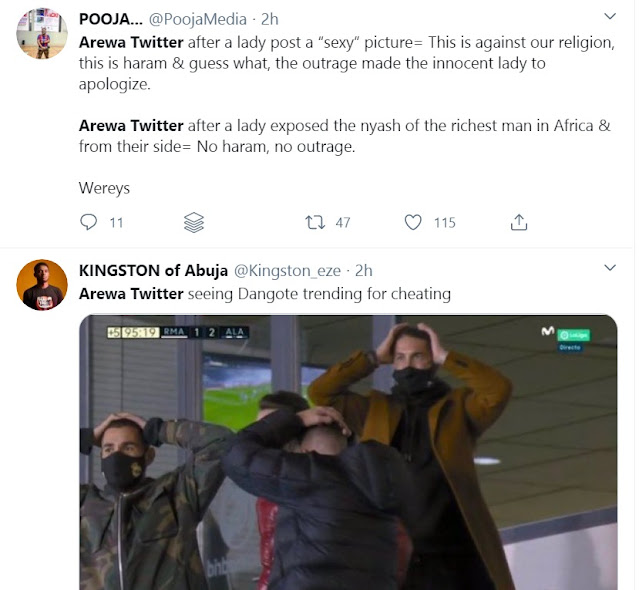 'Religion Is For The Poor' - Twitter Users Drag Muslim Group For Ignoring Dangote' Adultery Saga