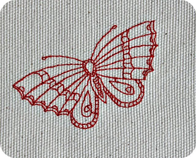 redwork, free embroidery design, broderie gratuite