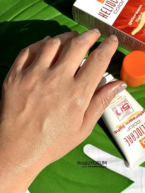 Heliocare Color GelCream Light SPF 50 Renkli Güneş Kremi kullananlar 5