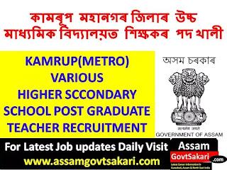 Assam Education Department Recruitment 2019